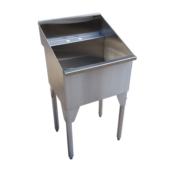 ... Sinks > Laundry Sinks > Stainless Steel Laundry/Utility Sink on Legs