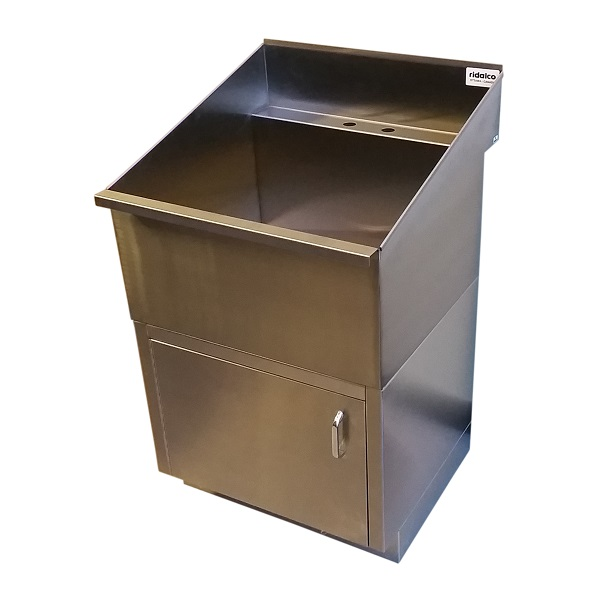 Utility Sink With Cabinet Base : ... Laundry Sinks > Stainless Steel Laundry/Utility Sink with Base Cabinet