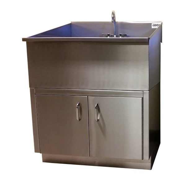 Utility Sink With Cabinet Base : Stainless Steel Laundry/Utility Sink with Base Cabinet