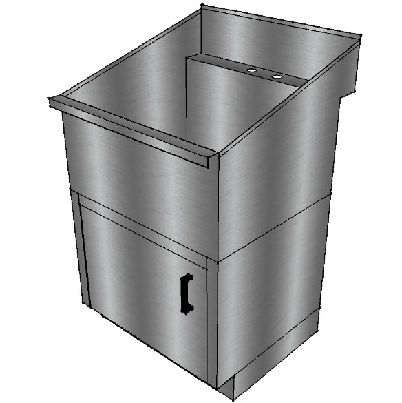Laundry Sink Cabinet Stainless Steel : ... Laundry Sinks > Stainless Steel Laundry/Utility Sink with Base Cabinet