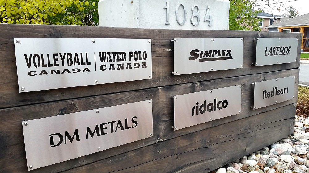 Stainless steel laser cut signs and logos