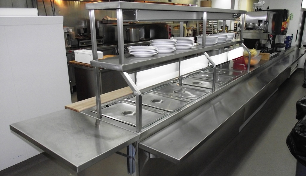 Stainless Steel Servery