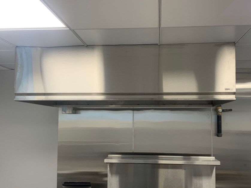 Commercial restaurant kitchen stainless steel exhaust hood