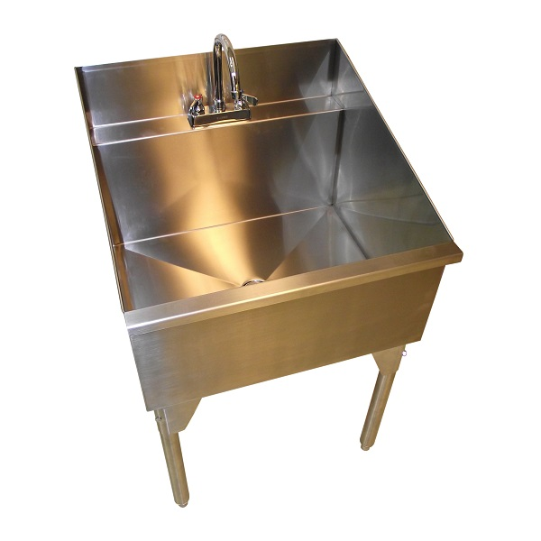Stainless Steel Laundry Utility Sink On Legs