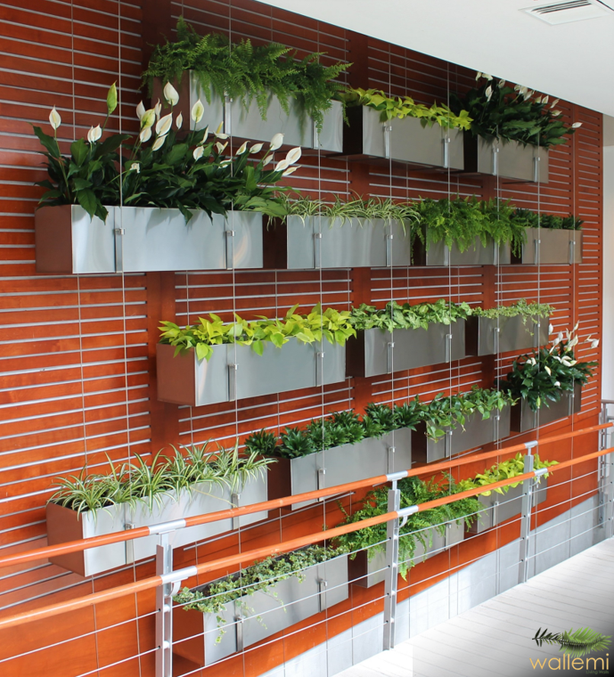 Stainless Steel Planters Living Wall