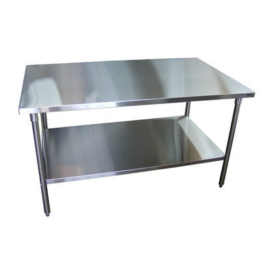 Stainless steel work table with undershelf